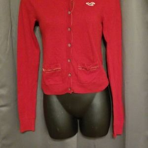 Juniors Hollister red sweater size S